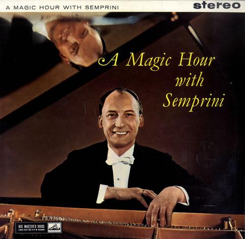 Semprini A Magic Hour With Semprini vinyl LP album (LP record) UK 1N1LPAM560851