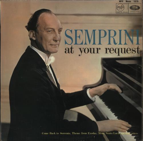 Semprini At Your Request vinyl LP album (LP record) UK 1N1LPAT710326