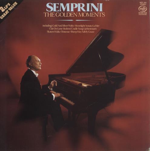 Semprini The Golden Moments 2-LP vinyl record set (Double Album) UK 1N12LTH746845