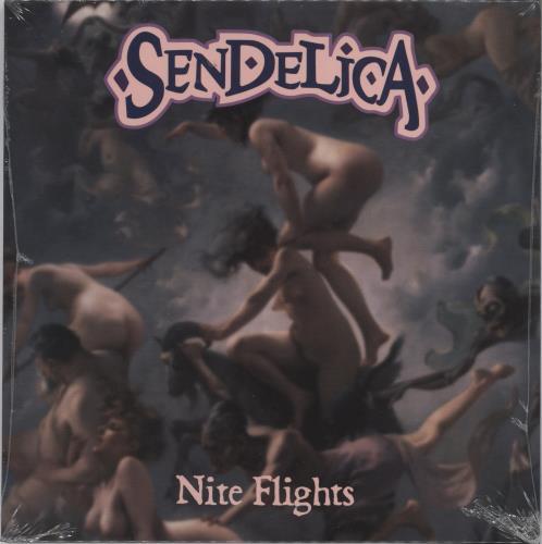 "Sendelica Nite Flights - Purple Vinyl + Shrink 7"" vinyl single (7 inch record) UK 26O07NI767120"