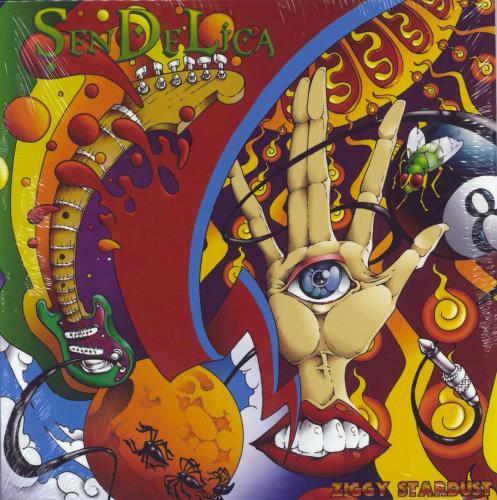 "Sendelica Ziggy Stardust - Red Vinyl + Shrink 7"" vinyl single (7 inch record) UK 26O07ZI767052"