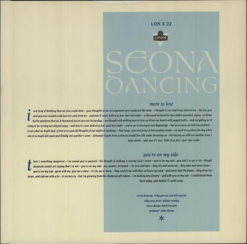 "Seona Dancing More To Lose 12"" vinyl single (12 inch record / Maxi-single) UK W3P12MO618773"