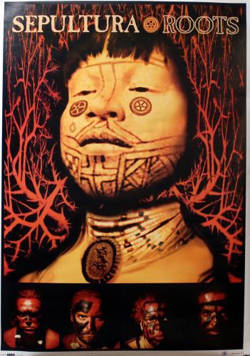 Sepultura Roots poster UK SEPPORO683871