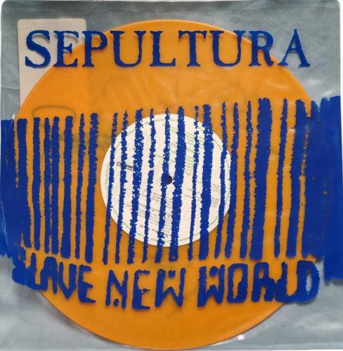 "Sepultura Slave New World - Orange Vinyl - Autographed 10"" vinyl single (10"" record) UK SEP10SL771014"