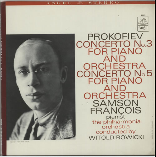 Sergei Prokofiev Piano Concertos Nos. 3 and 5 vinyl LP album (LP record) US PJ3LPPI633141
