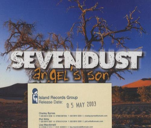 """Sevendust Angel's Son CD single (CD5 / 5"""") UK SVDC5AN244921"""