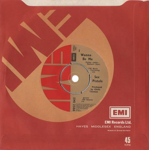 "Sex Pistols Anarchy In The U.K. - 1st - EMI sleeve 7"" vinyl single (7 inch record) UK SEX07AN459693"