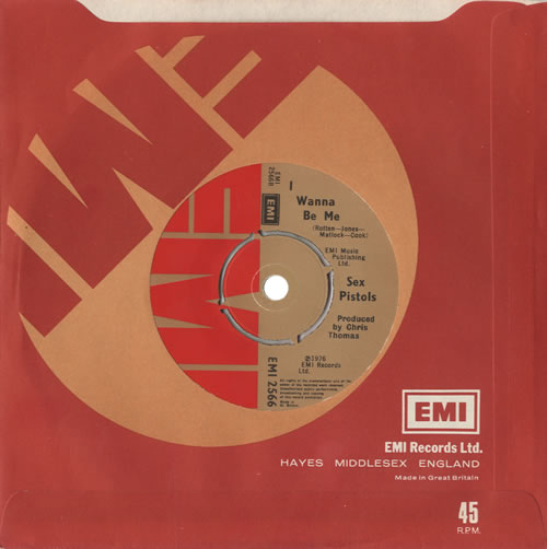 "Sex Pistols Anarchy In The U.K. - 1st 7"" vinyl single (7 inch record) UK SEX07AN459693"