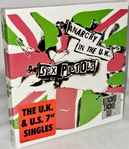 """Sex Pistols Anarchy In The UK - The UK & US 7"""" Singles - Sealed 7"""" box set US SEX7XAN767416"""