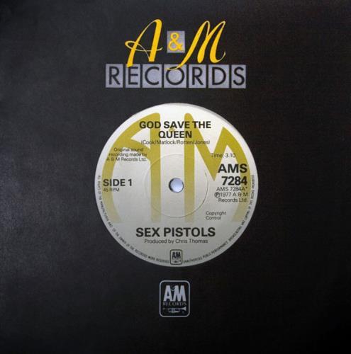 "Sex Pistols God Save The Queen - Original A&M Issue 7"" vinyl single (7 inch record) UK SEX07GO103486"