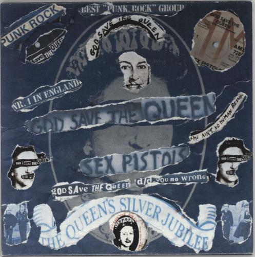 "Sex Pistols God Save The Queen - Punk Art Sleeve 7"" vinyl single (7 inch record) UK SEX07GO757458"