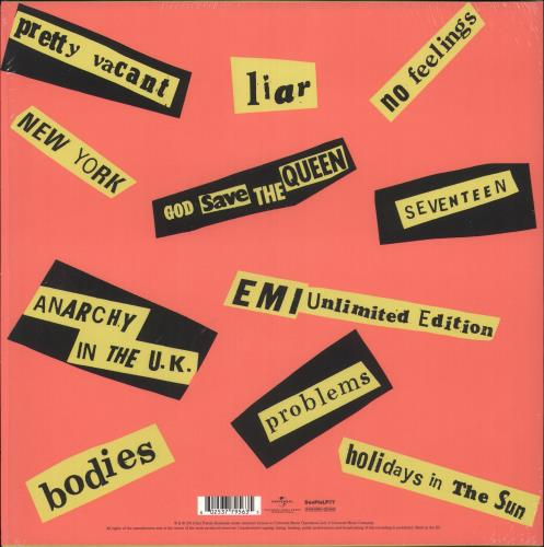Sex Pistols Never Mind The Bollocks - 180 Gram vinyl LP album (LP record) UK SEXLPNE741290
