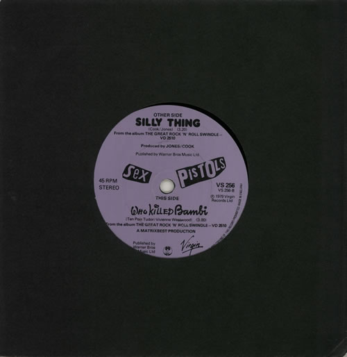 """Sex Pistols Silly Thing 7"""" vinyl single (7 inch record) UK SEX07SI574880"""
