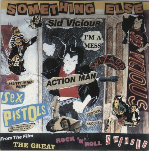 "Sex Pistols Something Else - Punk Art Sleeve 7"" vinyl single (7 inch record) UK SEX07SO757460"