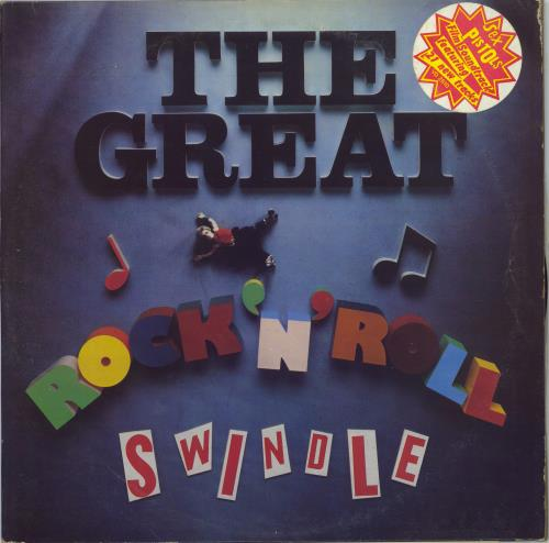 Sex Pistols The Great Rock 'N' Roll Swindle + Insert & Stickers 2-LP vinyl record set (Double Album) UK SEX2LTH768204