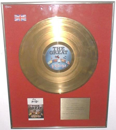 Sex Pistols The Great Rock 'n' Roll Swindle award disc UK SEXAWTH148315