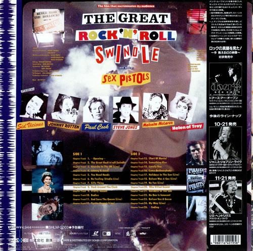 Sex Pistols The Great Rock 'N' Roll Swindle laserdisc / lazerdisc Japanese SEXLZTH479602