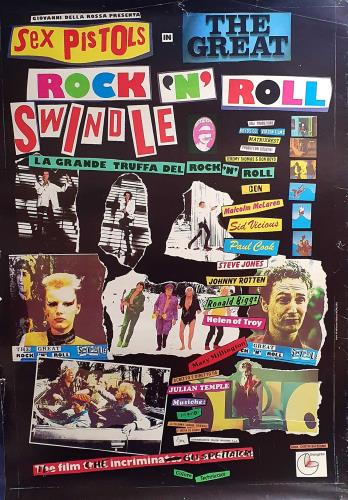 Sex Pistols The Great Rock 'N' Roll Swindle poster UK SEXPOTH481089
