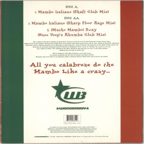"""Shaft Mambo Italiano 12"""" vinyl single (12 inch record / Maxi-single) UK HAF12MA696328"""