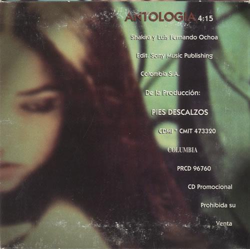 "Shakira Antologia CD single (CD5 / 5"") Mexican IKAC5AN241774"