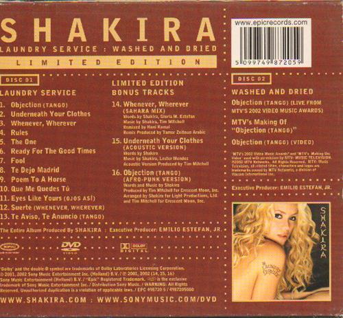 Shakira Laundry Service Washed Amp Dried Uk 2 Disc Cd Dvd