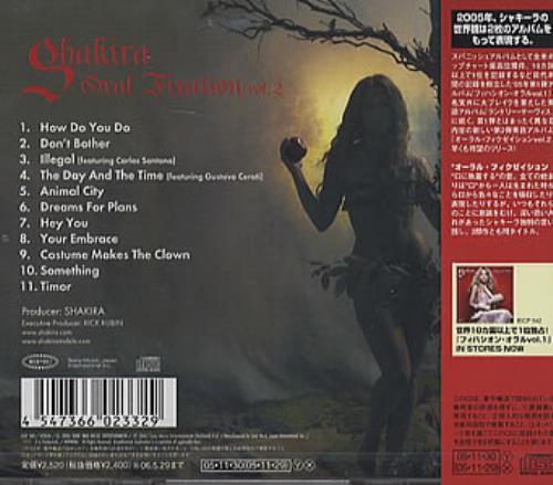 Shakira Oral Fixation Vol 2 Japanese Cd Album Cdlp 339758