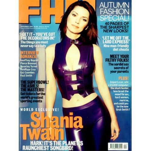 Shania Twain Fhm September 1999 Uk Magazine 419809