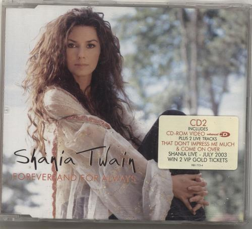 """Shania Twain Forever and For Always CD single (CD5 / 5"""") UK SIAC5FO697431"""