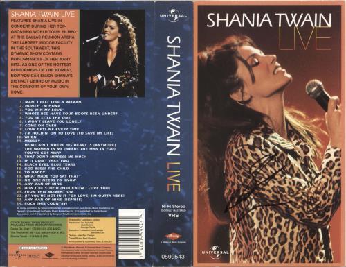 Shania Twain Live - Autographed Insert memorabilia UK SIAMMLI737384