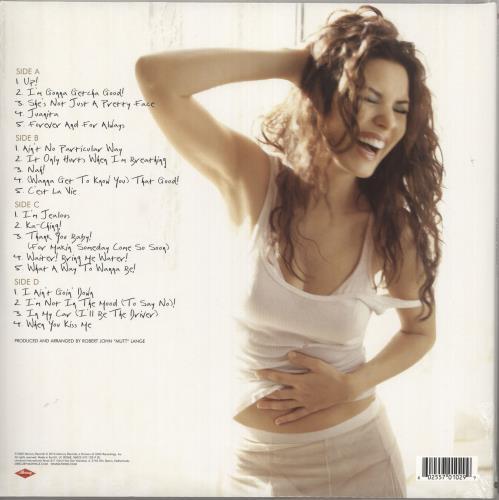 Shania Twain Up! - Red Vinyl 2-LP vinyl record set (Double Album) UK SIA2LUP736205