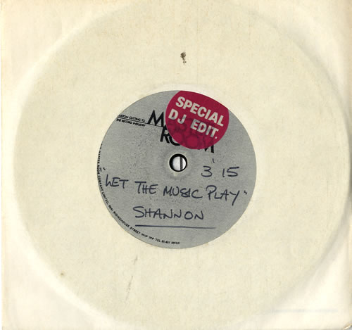 "Shannon (80s) Let The Music Play - Special DJ Edit 7"" vinyl single (7 inch record) UK SNN07LE576321"