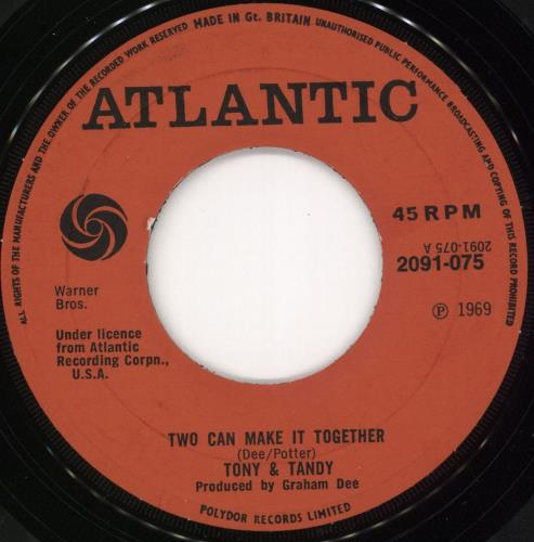 """Sharon Tandy Two Can Make It Together 7"""" vinyl single (7 inch record) UK ST/07TW721599"""