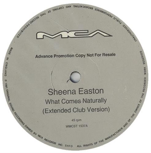 "Sheena Easton What Comes Naturally 12"" vinyl single (12 inch record / Maxi-single) UK EAS12WH99971"