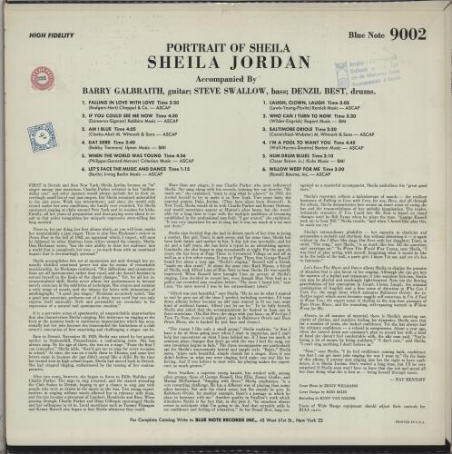 Sheila Jordan Portrait Of Sheila - 1st - NY vinyl LP album (LP record) US X63LPPO668670