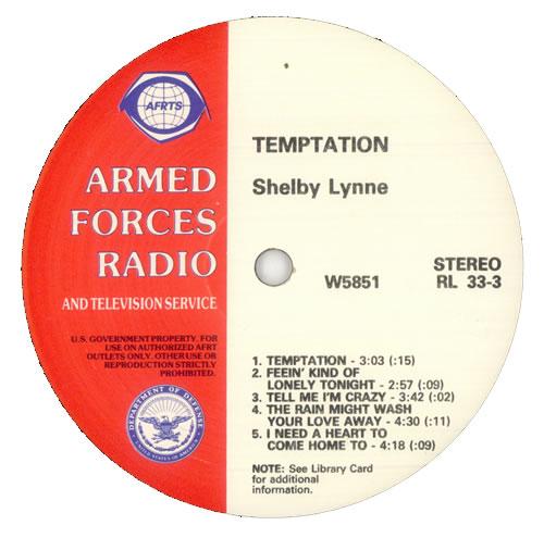 Shelby Lynne Temptation vinyl LP album (LP record) US YLYLPTE514097
