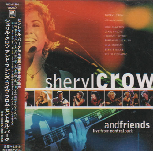 Sheryl Crow Central Park Live CD album (CDLP) Japanese SCWCDCE637537