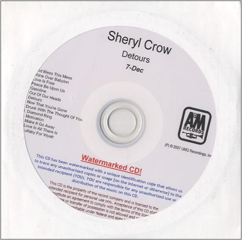 Sheryl Crow Detours CD-R acetate US SCWCRDE459556