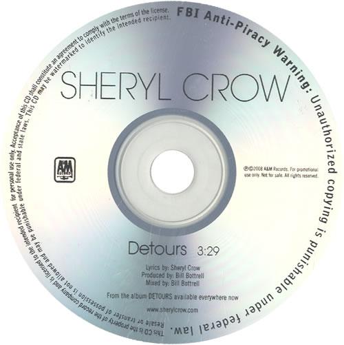 Sheryl Crow Detours CD-R acetate US SCWCRDE486186