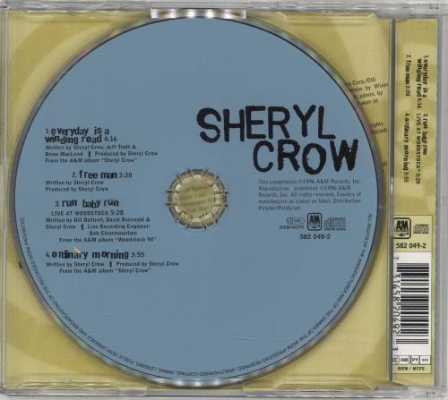 "Sheryl Crow Everyday Is A Winding Road CD single (CD5 / 5"") German SCWC5EV79295"
