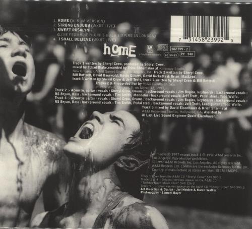 "Sheryl Crow Home + 4 Postcards CD single (CD5 / 5"") UK SCWC5HO265290"