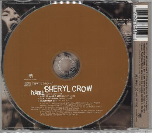 "Sheryl Crow Home CD single (CD5 / 5"") UK SCWC5HO99216"