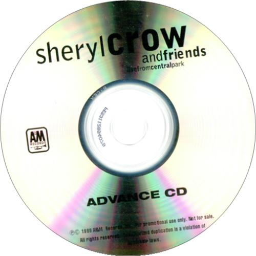 Sheryl Crow Live From Central Park CD-R acetate US SCWCRLI149531