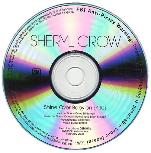Sheryl Crow Shine Over Babylon CD-R acetate US SCWCRSH428597