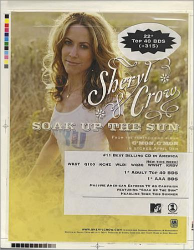 Sheryl Crow Soak Up The Sun artwork US SCWARSO395607