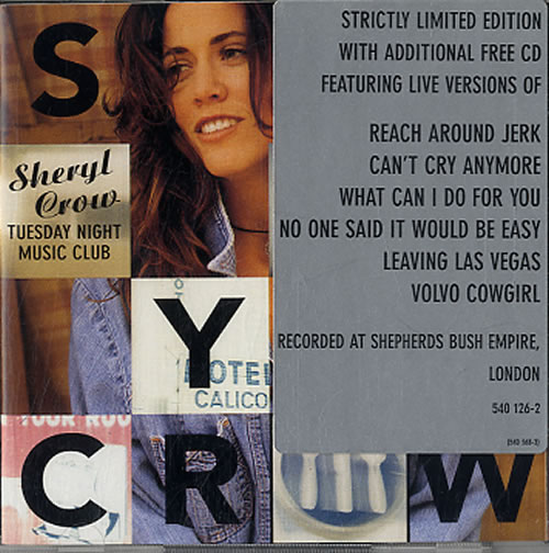 Sheryl Crow Tuesday Night Music Club + Bonus CD/Stickered Case 2 CD album set (Double CD) UK SCW2CTU88193