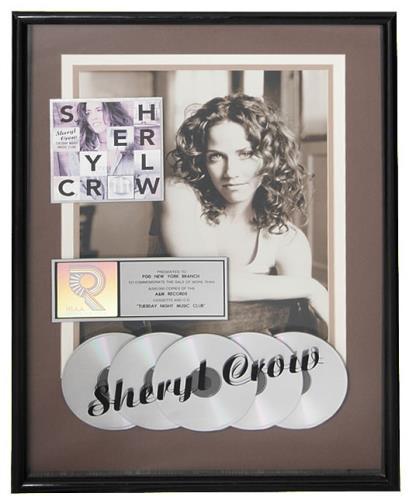 Sheryl Crow Tuesday Night Music Club award disc US SCWAWTU474151