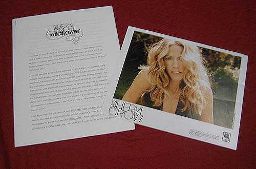Sheryl Crow Wildflower media press pack US SCWPPWI339329