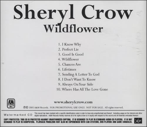 Sheryl Crow Wildflower CD-R acetate US SCWCRWI367528