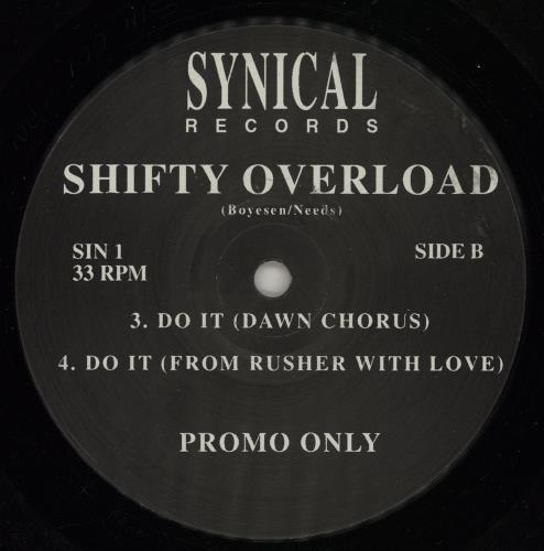 "Shifty Overload Do It - Promo 12"" vinyl single (12 inch record / Maxi-single) UK 2IQ12DO758289"