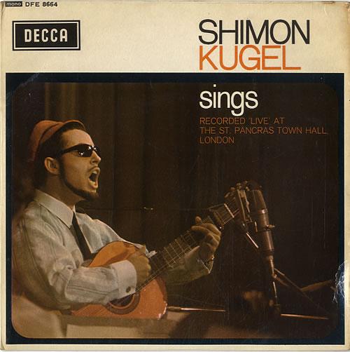 "Shimon Kugel Sings 7"" vinyl single (7 inch record) UK V6X07SI592101"